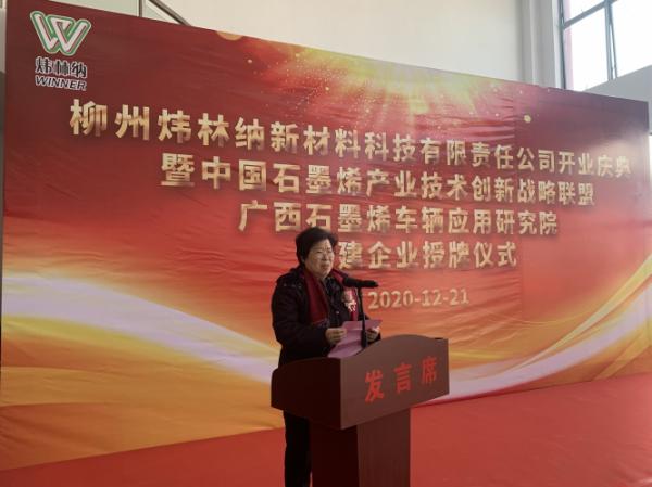 柳州炜林纳新材料有限公司开业投产庆典于广西鹿寨隆重举行